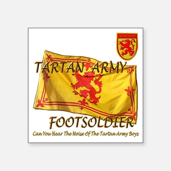 "Tartan Army Boys The Noise Square Sticker 3"" x 3"""