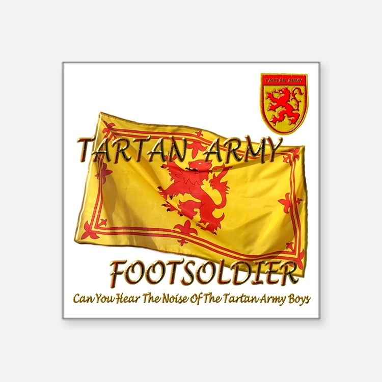 "Tartan Army Boys The Noise Square Sticker 3"" x 3"""