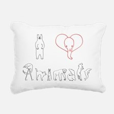 I love animals Rectangular Canvas Pillow