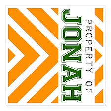 "Property_of_Jonah copy Square Car Magnet 3"" x 3"""