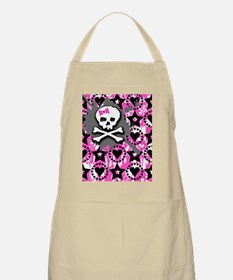 Pink Bow Skull Apron