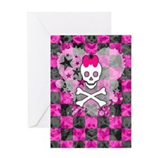 Princess Skull Greeting Card