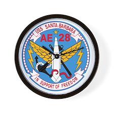 AE-28 USS Santa Barbara Ammunition Ship Wall Clock