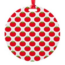Red Tomato Pattern. Ornament