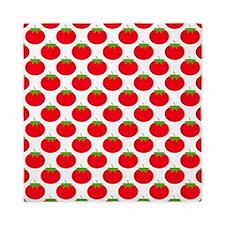 Red Tomato Pattern. Queen Duvet
