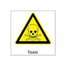 """toxic materials Square Sticker 3"""" x 3"""""""