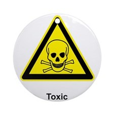 toxic materials Round Ornament