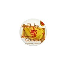 Well be coming lion flag design Mini Button