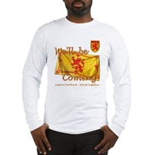 Well be coming lion flag desig Long Sleeve T-Shirt