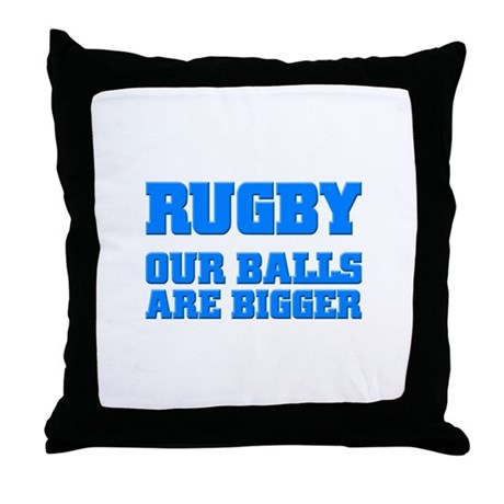 Rugby Balls Throw Pillow