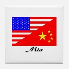 Mia Flags Tile Coaster