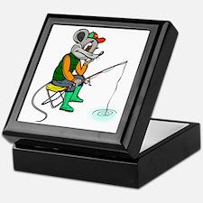 Fishing Mouse Keepsake Box