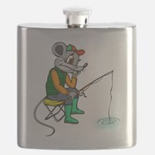 Fishing Mouse Flask