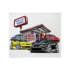2004 GTO Gas Station black car Throw Blanket