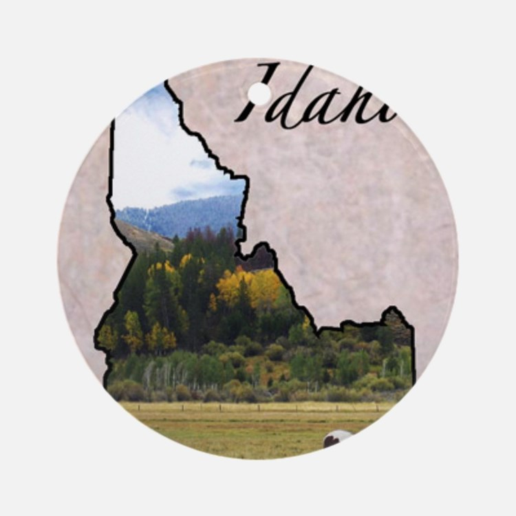 Idaho Round Ornament
