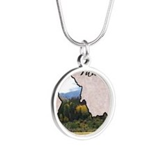 Idaho Silver Round Necklace