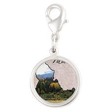 Idaho Silver Round Charm