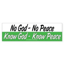 Know God Know Peace Bumper Bumper Sticker