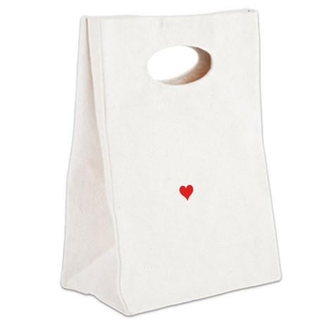 I Love Prowler Canvas Lunch Tote