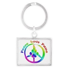 Peace Love Paws Landscape Keychain