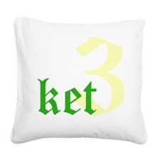 2011 - 3NeutralketW12X12 Square Canvas Pillow