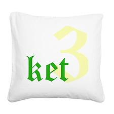 2011 - 3NeutralketW12X12 Square Canvas Pillow