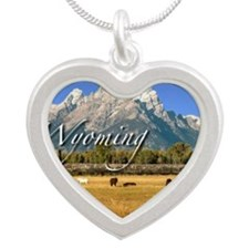 Wyoming Silver Heart Necklace