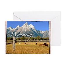 Wyoming Greeting Card