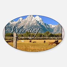 Wyoming Sticker (Oval)