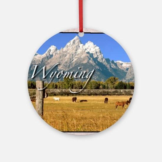 Wyoming Round Ornament