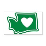 Heart washington_v5 Car Magnets