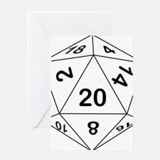d20_black Greeting Card