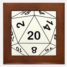 d20_black Framed Tile