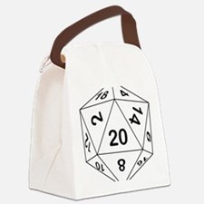 d20_black Canvas Lunch Bag