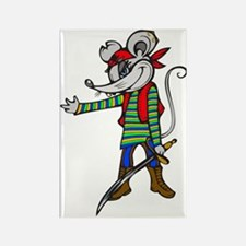 Pirate Mouse Rectangle Magnet