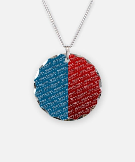 flip_flops_political_pattern Necklace