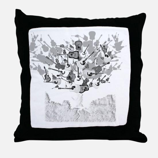 guitar tree white Throw Pillow