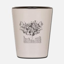 guitar tree white Shot Glass