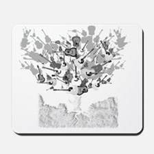 guitar tree white Mousepad