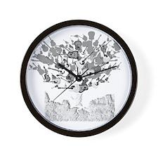 guitar tree white Wall Clock