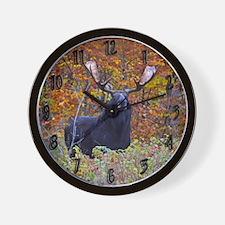 Big bull moose Wall Clock