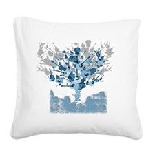 guitar tree red Square Canvas Pillow