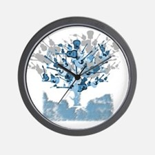 guitar tree red Wall Clock