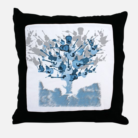 guitar tree red Throw Pillow
