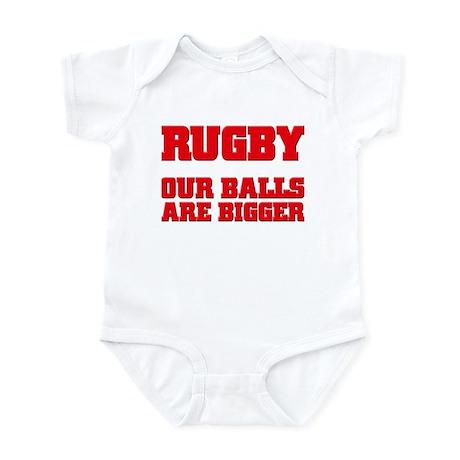 Rugby bigger balls Infant Bodysuit