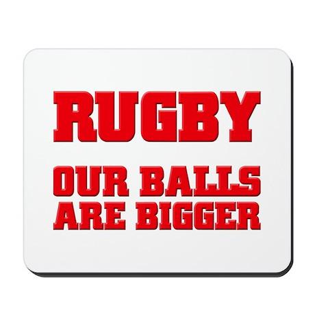 Rugby bigger balls Mousepad