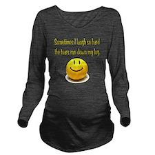 Laugh_Hard_Tears Long Sleeve Maternity T-Shirt