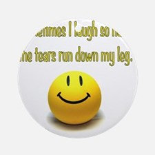 Laugh_Hard_Tears Round Ornament