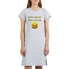 Laugh_Hard_Tears Women's Nightshirt
