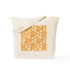 Orange Hibiscus Flower Tote Bag